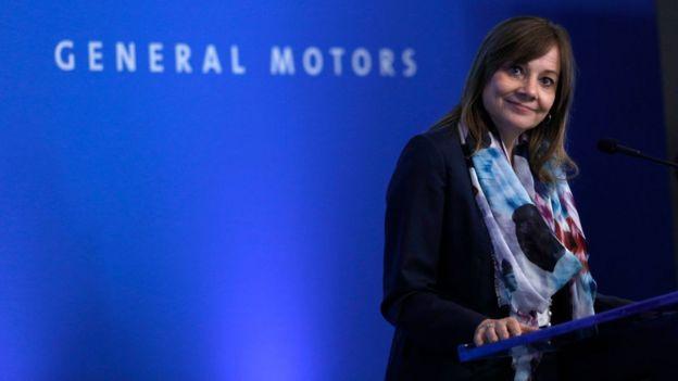 La directora ejecutiva de GM, Mary Barra.