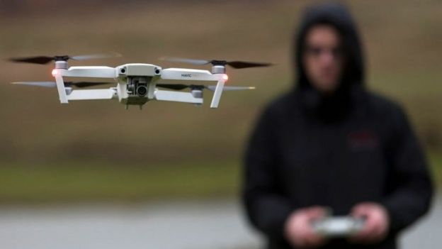 DJI said drone pilots could be quickly and precisely located using the technology