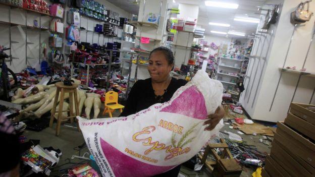 Saqueos en Nicaragua