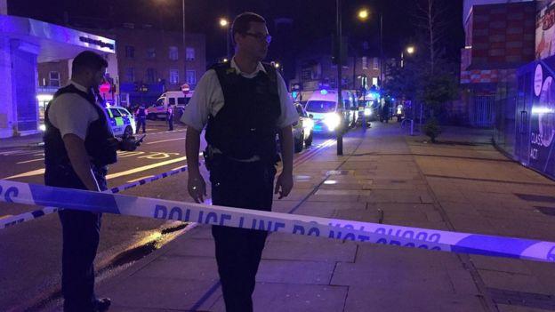 Police cordon near Finsbury Park