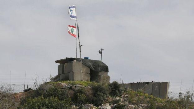 Puesto militar en la frontera entre Israel y Líbano.