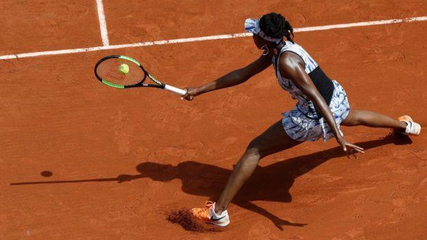 Venus Williams en su última participación en Roland Garros.