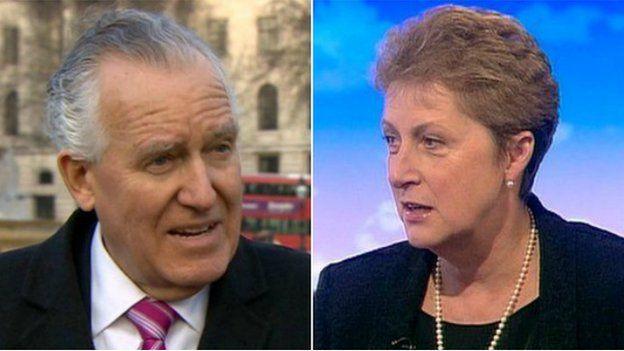 Peter Hain a Gisela Stuart