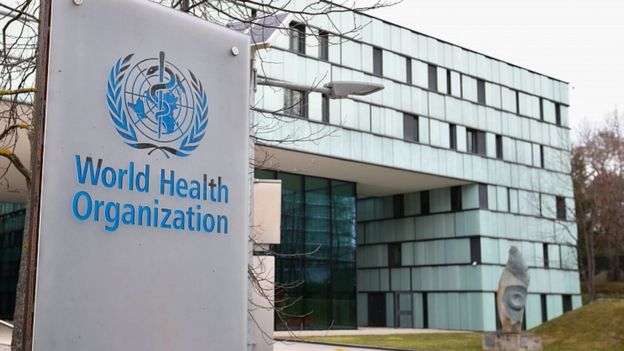 A building of the World Health Organization (WHO) in Geneva, Switzerland, February 6, 2020