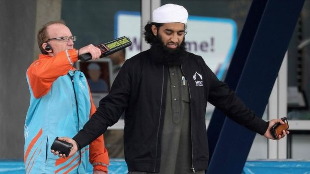 Security was strict before the joint prayer meeting in Christchurch