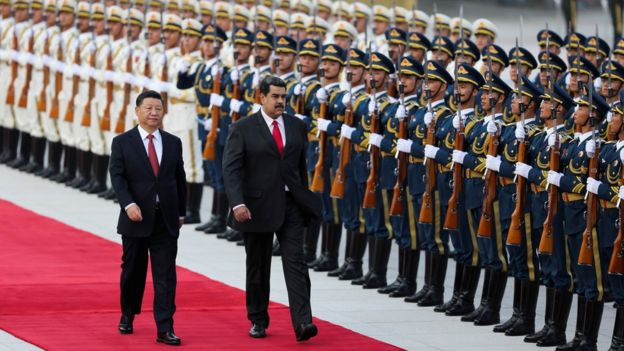 Chinese President Xi Jinping dan Nicolas Maduro.