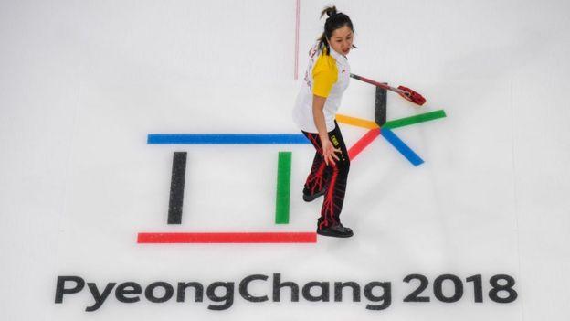 Una competidora en PyeongChang 2018