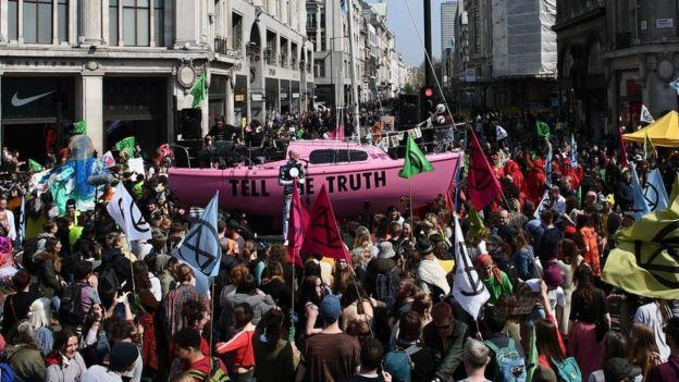 Extinction Rebellion Londres.