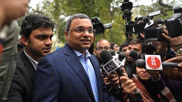 Karti Chidambaram, son of former Finance Minister P Chidambaram.