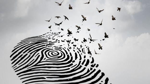huella dactilar - concepto abstracto