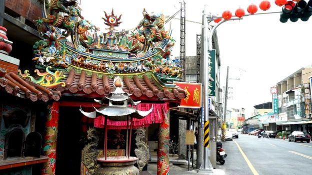 台灣廟宇。