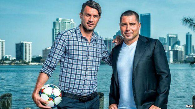 Former Milan star Paulo Maldini and entrepreneur Riccardo Silva