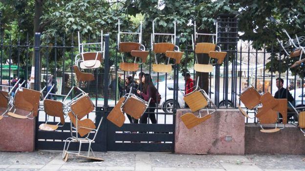 Toma de la facultad de Derecho de la Universidad de Chile