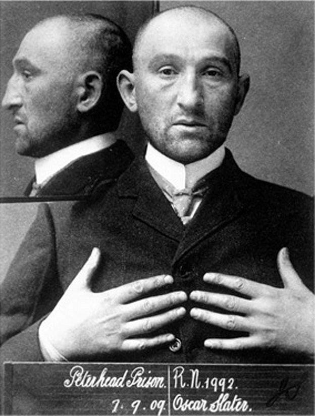 Oscar Slater en la foto de la prisión.
