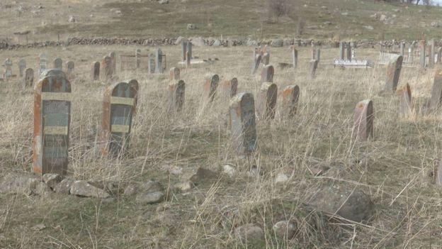 Азербайджанское кладбище в Дзюнашохе