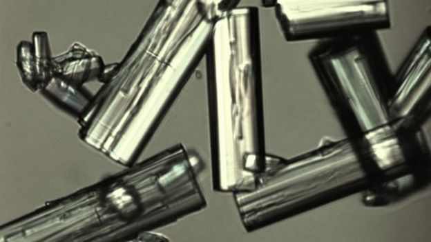 Cristales de MOF en base a aluminio