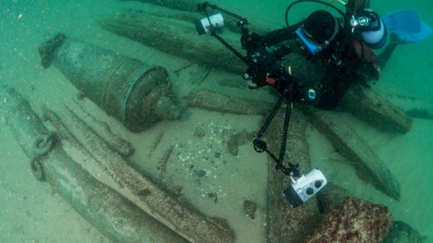 Shipwreck found off Cascais, Portugal