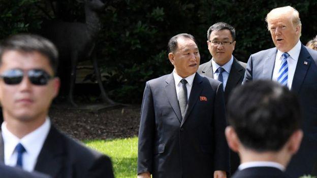 Trump y Kim Yong-chol, en la Casa Blanca.