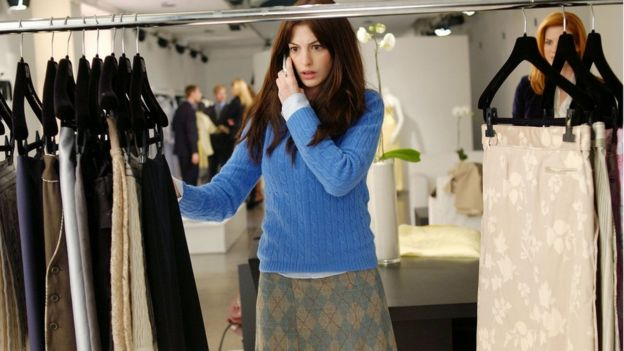Anne Hathaway as Andrea in the Devil Wears Prada