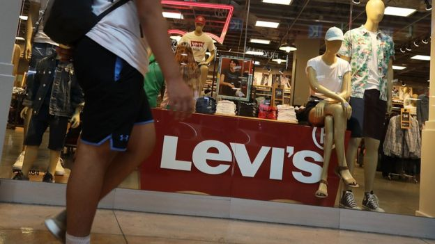A shop selling Levi's jeans