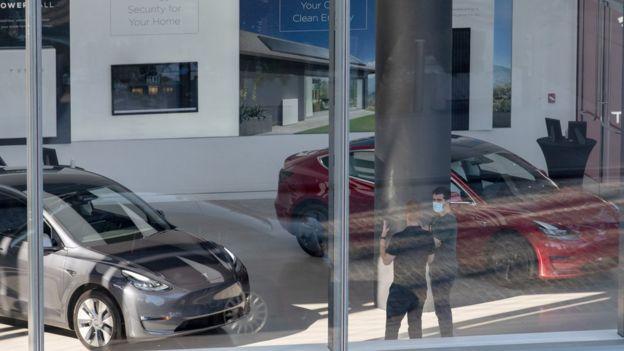 Tesla dealership in NY