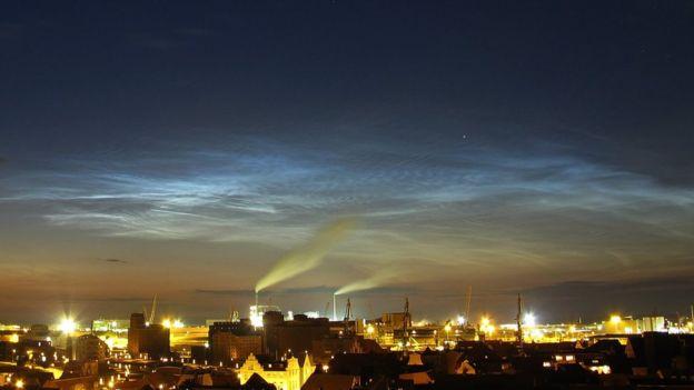 Nubes noctilucentes