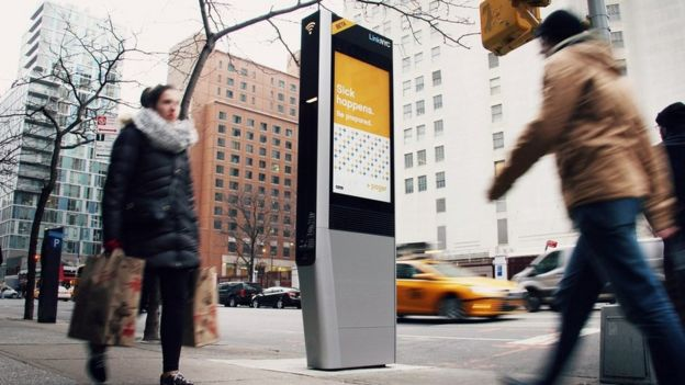 A wi-fi kiosk in New York