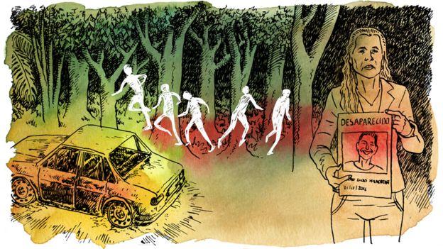 Ilustração do caso dos sem-terra Alysson e Ruan, que foram à júri em outubro de 2017 e resultaram na condenação de quatro pessoas