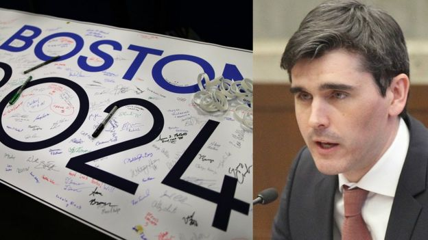 Крис Демпси возглавлял кампанию протеста против заявки Бостона на проведение Игр 2024 года