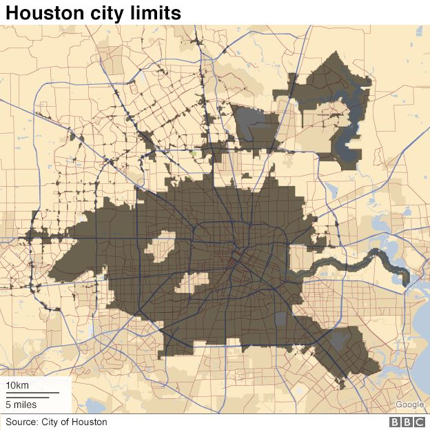 A map of Houston