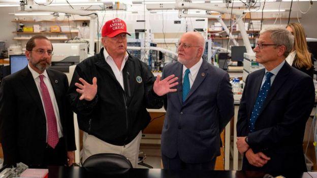 Трамп в Центре по контролю и профилактике заболеваний США
