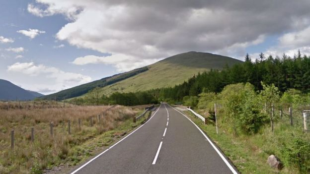 A82 south of Bridge of Orchy