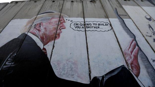 Valla que construyó Israel en Cisjordania