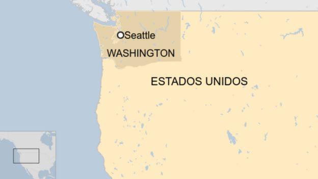 Ubicación de Seattle en el mapa de Estados Unidos