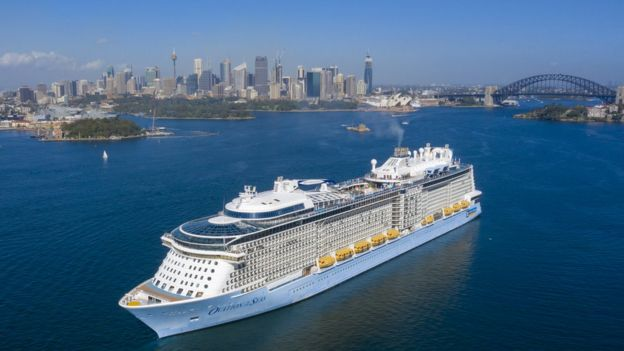 Ovation of the Seas in Sydney Harbour on 18 March