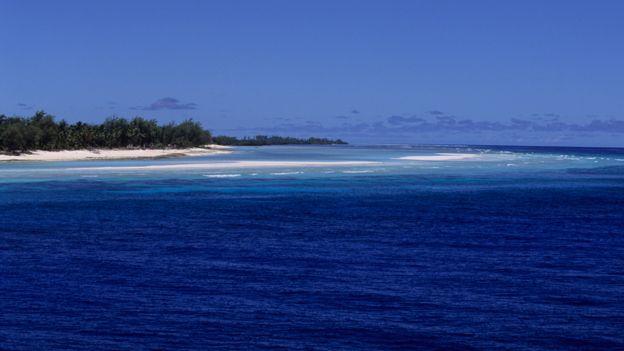 Playa en el atolón de Aldabra en el Océano Índico
