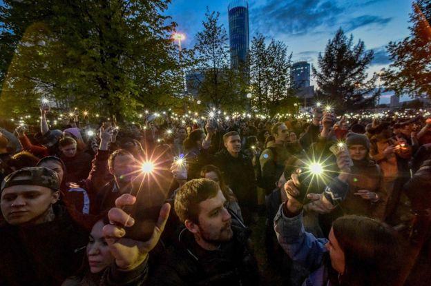 Park protests in Yekaterinburg
