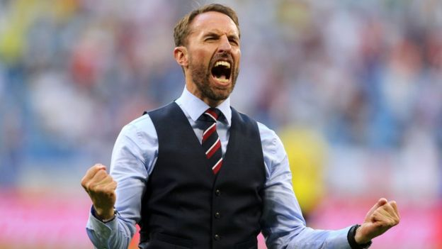 Gareth Southgate in waistcoat and tie