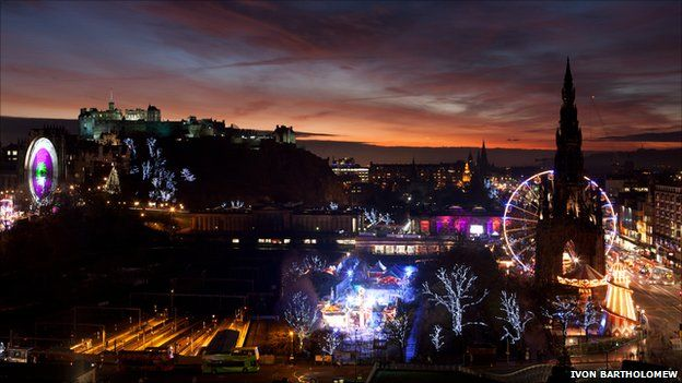 Edinburgh city centre - picture by Ivon Bartholomew