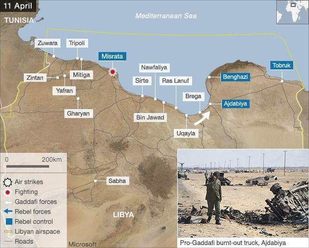 air strikes map 11 april