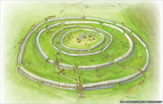 reconstruction of the Whitehawk causewayed enclosure in the South Downs, Sussex