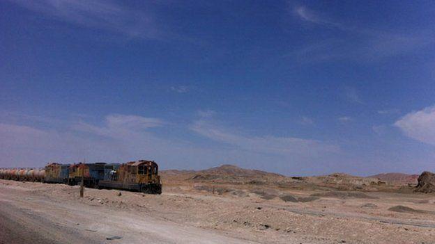 A mining train, Atacama Desert, Chile