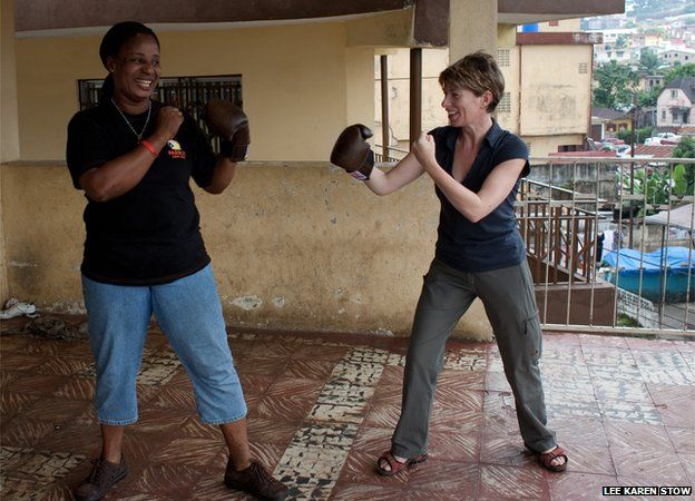 The late-Grace Brown of women's boxing team and Lee