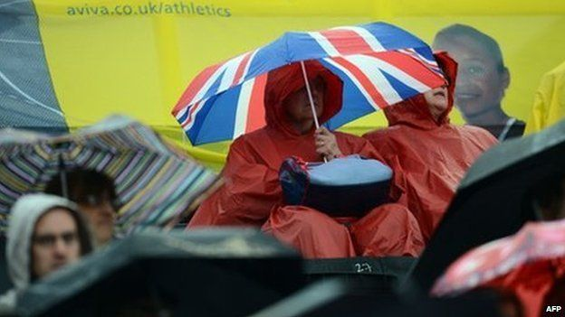 Athletics spectators at Crystal Palace