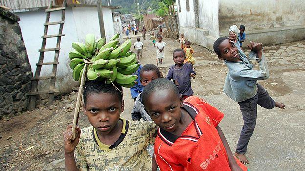 Children in a village on Mutsamudu, Comoros islands