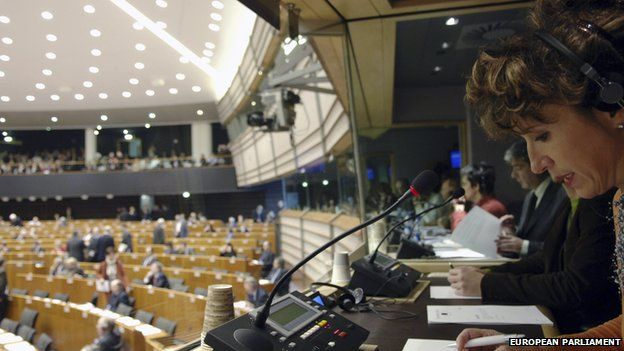 Interpreters booth in Brussels