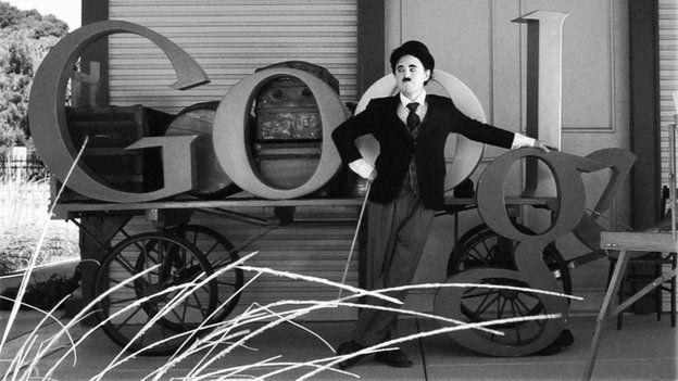 Google Doodle featuring Charlie Chaplin