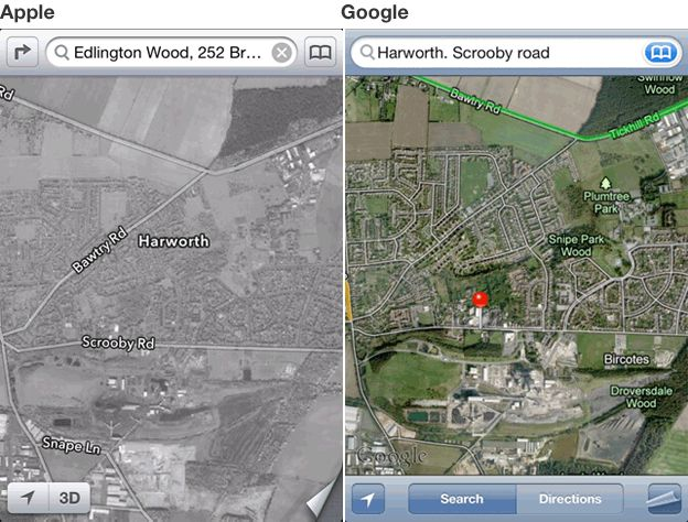 Apple and Google comparison