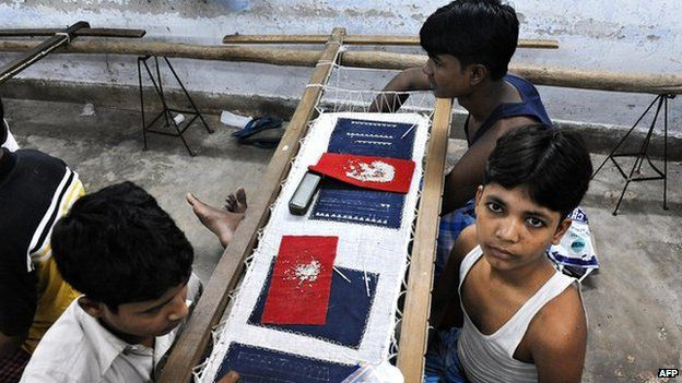 Child bonded labourers in India
