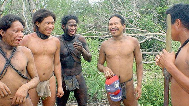 A group of Ayoreo-Totobiegosode Indians